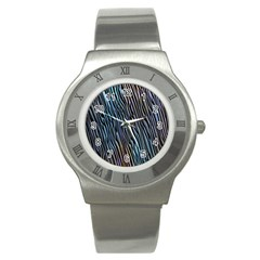 Abstract Background Wallpaper Stainless Steel Watch