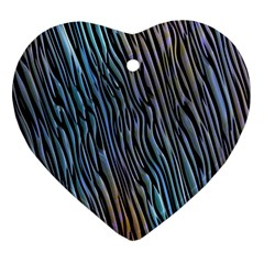 Abstract Background Wallpaper Heart Ornament (Two Sides)