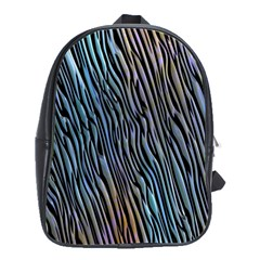 Abstract Background Wallpaper School Bags(Large)