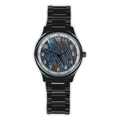 Abstract Background Wallpaper Stainless Steel Round Watch
