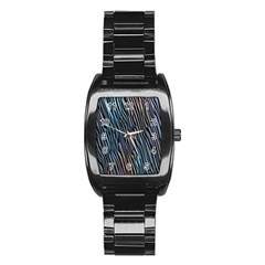 Abstract Background Wallpaper Stainless Steel Barrel Watch