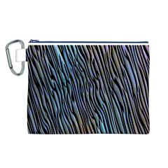 Abstract Background Wallpaper Canvas Cosmetic Bag (l)