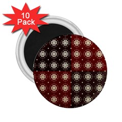 Decorative Pattern With Flowers Digital Computer Graphic 2 25  Magnets (10 Pack)