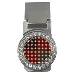 Decorative Pattern With Flowers Digital Computer Graphic Money Clips (cz)