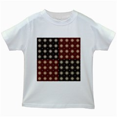 Decorative Pattern With Flowers Digital Computer Graphic Kids White T-Shirts