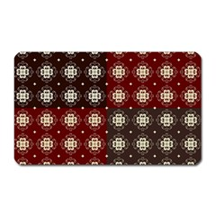 Decorative Pattern With Flowers Digital Computer Graphic Magnet (Rectangular)