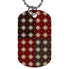 Decorative Pattern With Flowers Digital Computer Graphic Dog Tag (two Sides)