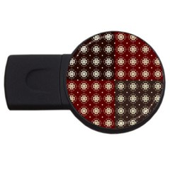 Decorative Pattern With Flowers Digital Computer Graphic USB Flash Drive Round (2 GB)