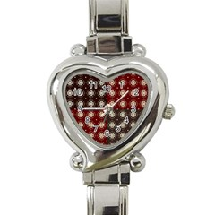 Decorative Pattern With Flowers Digital Computer Graphic Heart Italian Charm Watch