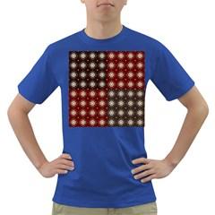 Decorative Pattern With Flowers Digital Computer Graphic Dark T-Shirt