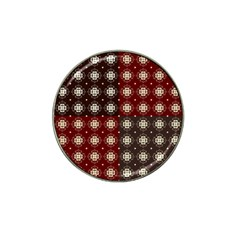 Decorative Pattern With Flowers Digital Computer Graphic Hat Clip Ball Marker (4 Pack)
