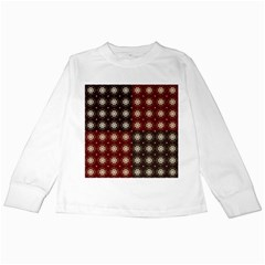 Decorative Pattern With Flowers Digital Computer Graphic Kids Long Sleeve T-Shirts