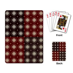 Decorative Pattern With Flowers Digital Computer Graphic Playing Card