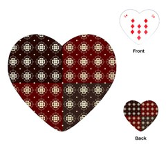 Decorative Pattern With Flowers Digital Computer Graphic Playing Cards (Heart)