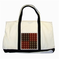 Decorative Pattern With Flowers Digital Computer Graphic Two Tone Tote Bag
