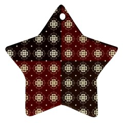 Decorative Pattern With Flowers Digital Computer Graphic Star Ornament (Two Sides)