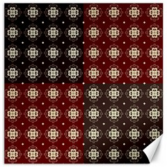 Decorative Pattern With Flowers Digital Computer Graphic Canvas 16  X 16