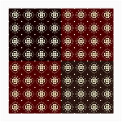 Decorative Pattern With Flowers Digital Computer Graphic Medium Glasses Cloth (2-Side)