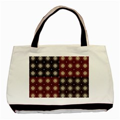 Decorative Pattern With Flowers Digital Computer Graphic Basic Tote Bag (Two Sides)