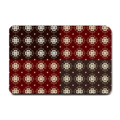 Decorative Pattern With Flowers Digital Computer Graphic Small Doormat