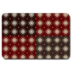 Decorative Pattern With Flowers Digital Computer Graphic Large Doormat