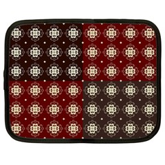 Decorative Pattern With Flowers Digital Computer Graphic Netbook Case (Large)
