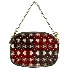 Decorative Pattern With Flowers Digital Computer Graphic Chain Purses (Two Sides)