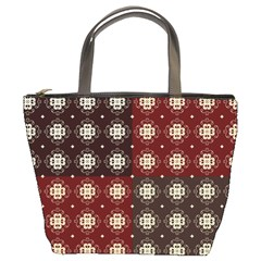 Decorative Pattern With Flowers Digital Computer Graphic Bucket Bags
