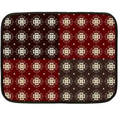 Decorative Pattern With Flowers Digital Computer Graphic Double Sided Fleece Blanket (Mini)