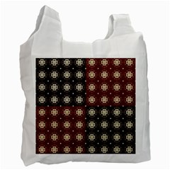 Decorative Pattern With Flowers Digital Computer Graphic Recycle Bag (Two Side)