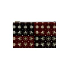 Decorative Pattern With Flowers Digital Computer Graphic Cosmetic Bag (small)