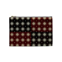 Decorative Pattern With Flowers Digital Computer Graphic Cosmetic Bag (medium)