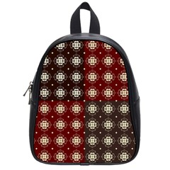Decorative Pattern With Flowers Digital Computer Graphic School Bags (Small)
