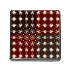 Decorative Pattern With Flowers Digital Computer Graphic Memory Card Reader (square)
