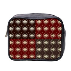 Decorative Pattern With Flowers Digital Computer Graphic Mini Toiletries Bag 2-Side