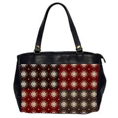 Decorative Pattern With Flowers Digital Computer Graphic Office Handbags (2 Sides)