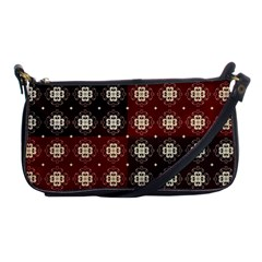 Decorative Pattern With Flowers Digital Computer Graphic Shoulder Clutch Bags