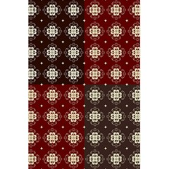 Decorative Pattern With Flowers Digital Computer Graphic 5 5  X 8 5  Notebooks