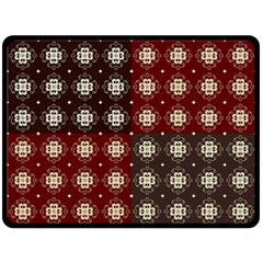 Decorative Pattern With Flowers Digital Computer Graphic Fleece Blanket (Large)