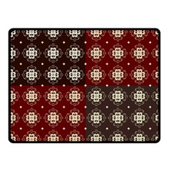 Decorative Pattern With Flowers Digital Computer Graphic Fleece Blanket (small)