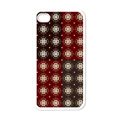 Decorative Pattern With Flowers Digital Computer Graphic Apple iPhone 4 Case (White)