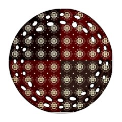Decorative Pattern With Flowers Digital Computer Graphic Ornament (Round Filigree)