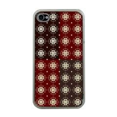 Decorative Pattern With Flowers Digital Computer Graphic Apple Iphone 4 Case (clear)