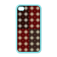 Decorative Pattern With Flowers Digital Computer Graphic Apple iPhone 4 Case (Color)