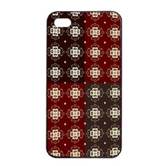 Decorative Pattern With Flowers Digital Computer Graphic Apple Iphone 4/4s Seamless Case (black)