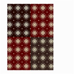 Decorative Pattern With Flowers Digital Computer Graphic Small Garden Flag (two Sides)