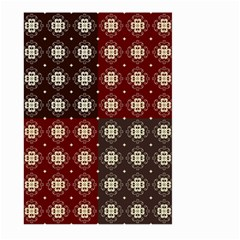 Decorative Pattern With Flowers Digital Computer Graphic Large Garden Flag (Two Sides)