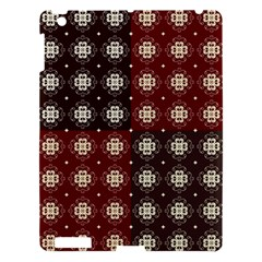 Decorative Pattern With Flowers Digital Computer Graphic Apple iPad 3/4 Hardshell Case