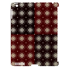 Decorative Pattern With Flowers Digital Computer Graphic Apple iPad 3/4 Hardshell Case (Compatible with Smart Cover)