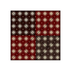 Decorative Pattern With Flowers Digital Computer Graphic Acrylic Tangram Puzzle (4  X 4 )